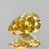 0.44 cts Orange Yellow Diamond Pear Shape Untreated Color