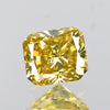 0.36 cts Greenish Yellow Diamond Cushion Shape Untreated Diamond