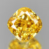 0.19 cts Oange Yellow Diamond Cushion Shape Untreated Diamond