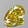 0.71 cts Green Yellow Diamond Pear Shape Untreated Diamond