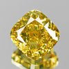 0.62 cts Green Yellow Diamond Cushion Shape Untreated Diamond