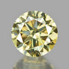 0.25 cts Yellow Diamond Round Shape Untreated Color