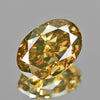 0.73 cts Greenish Yellow Diamond Oval Shape Untreated Color
