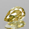 0.31 cts Yellow Diamond Pear Shape Untreated Color