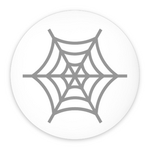 Load image into Gallery viewer, Spinster Spiderweb Pin-Back Buttons