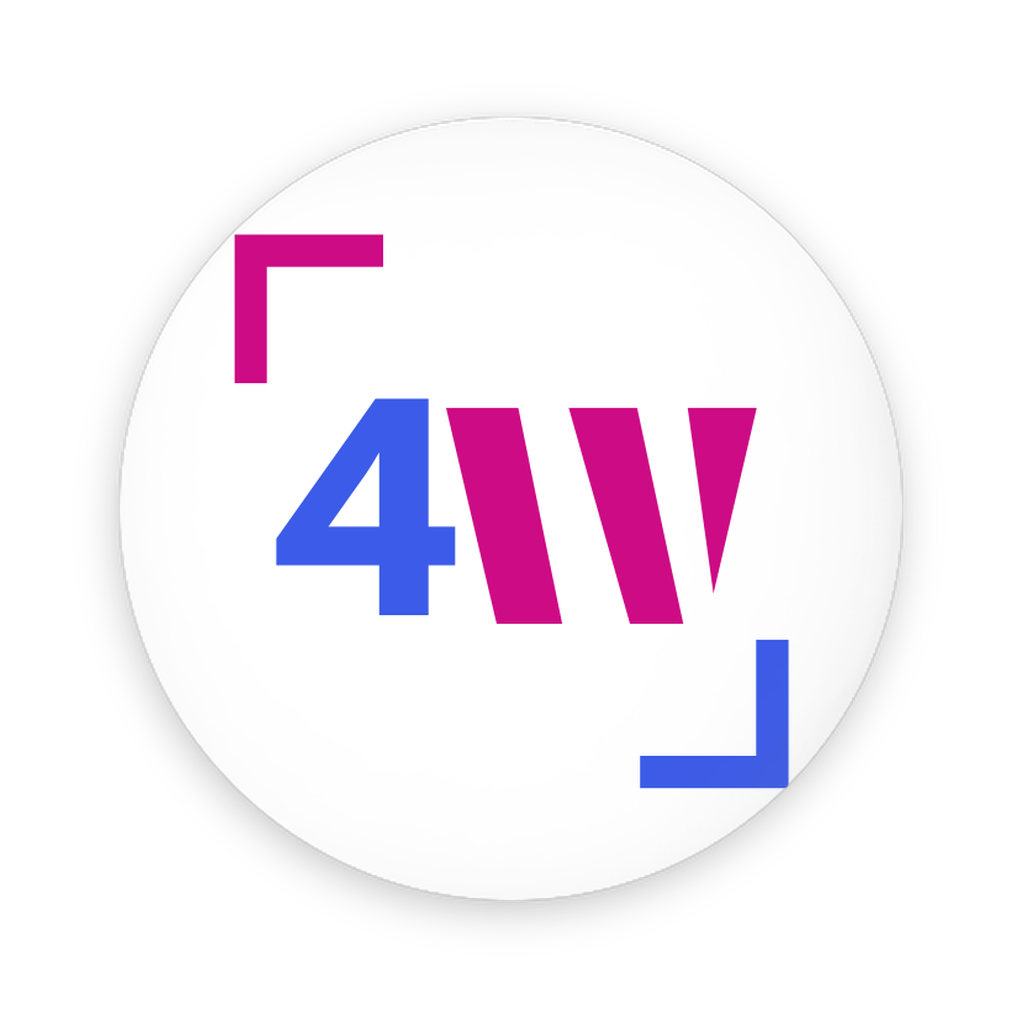 4W Logo Pin-Back Buttons