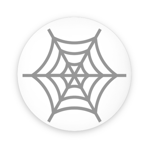 Spinster Spiderweb Pin-Back Buttons