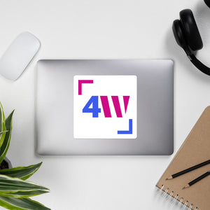 4W Logo Stickers