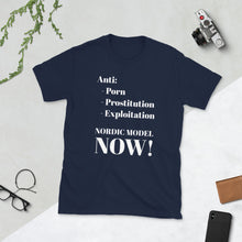 "Load image into Gallery viewer, ""Nordic Model Now"", Radical Feminist Shirts, T-Shirts, Hoodies"