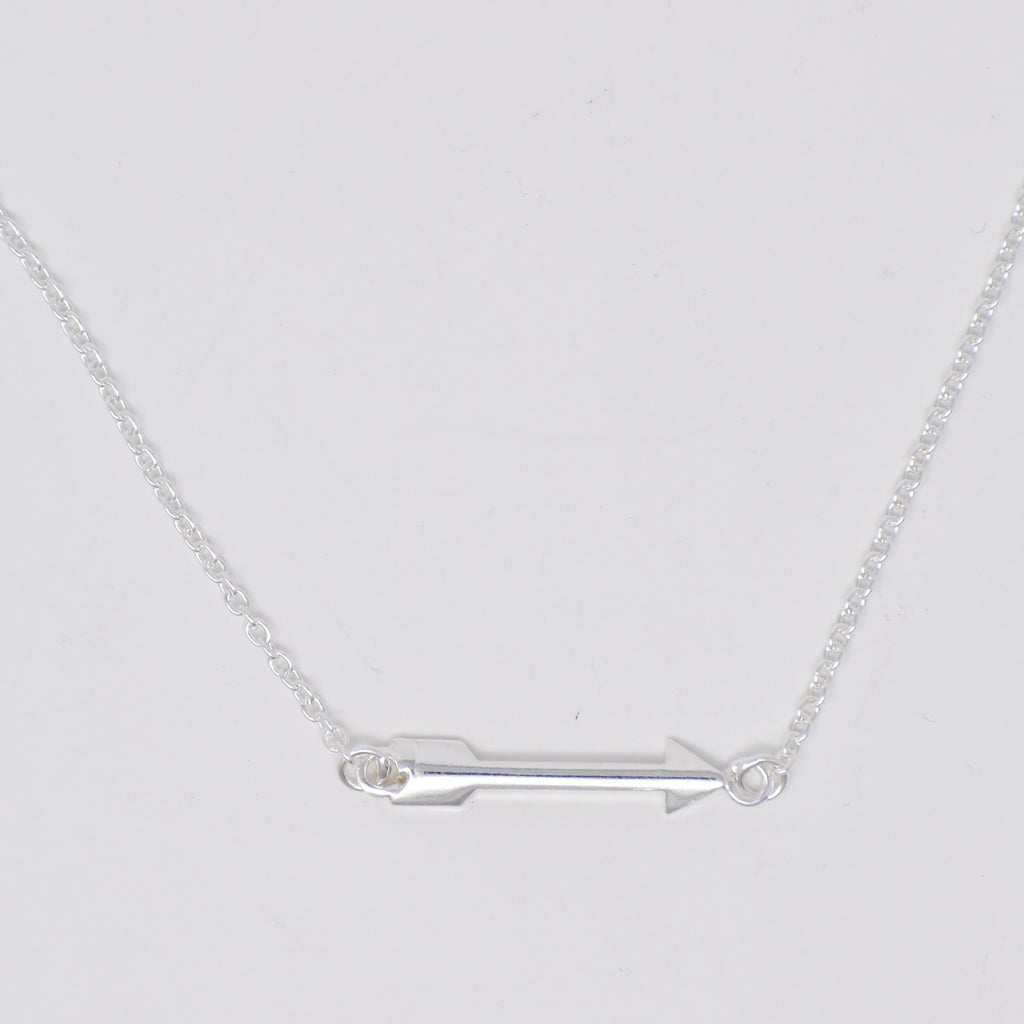 Arrow Necklace Sterling Silver