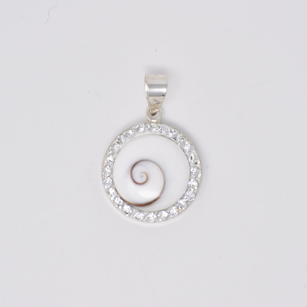 Crystal Lined Shiva's Eye Pendant
