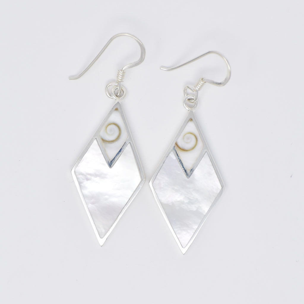 Diamond Shaped Earrings with SE Top