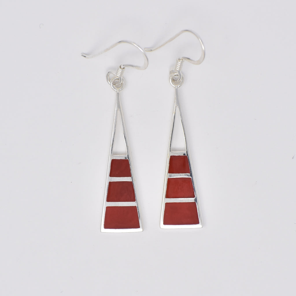 Long Hanging Triangle Earrings