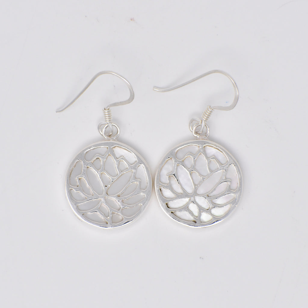 Lotus Flower Earrings -  Double Sided