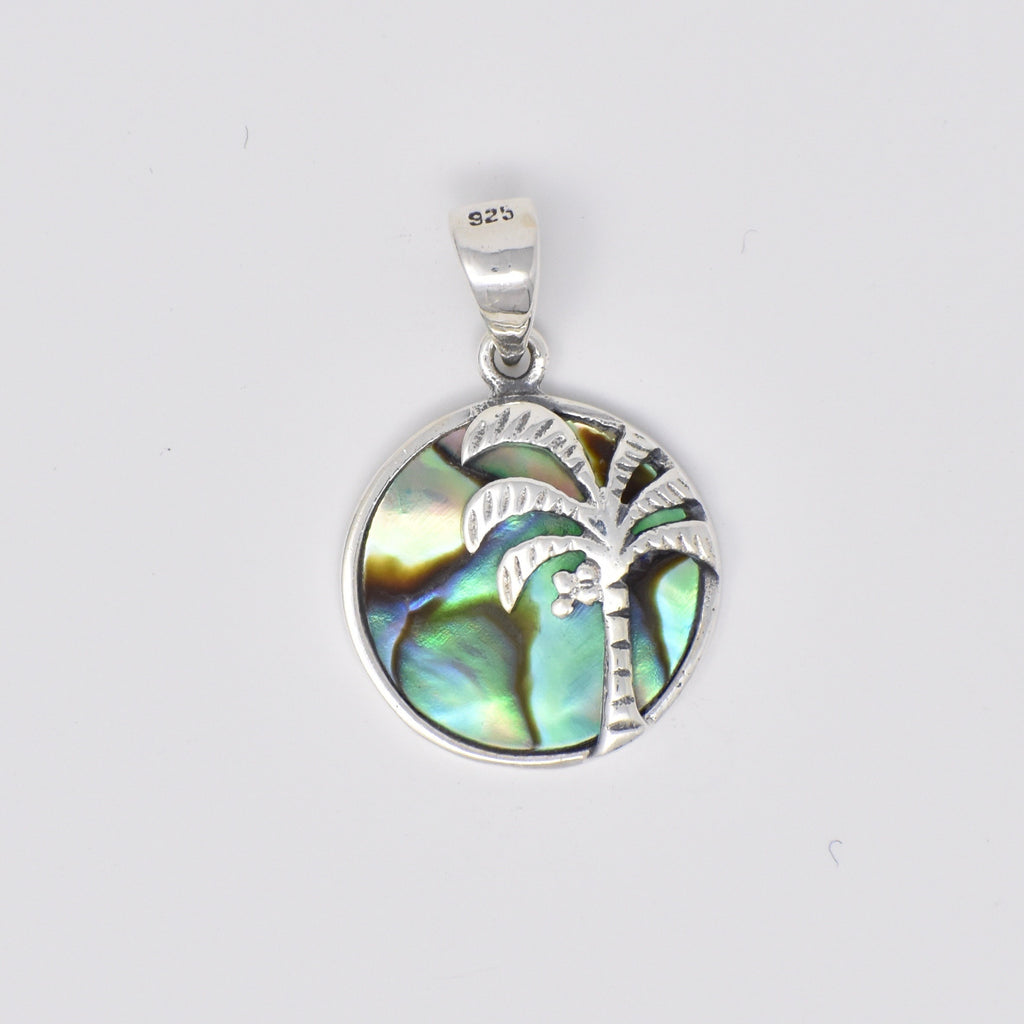 Palm Tree Pendant Double Sided 14mm