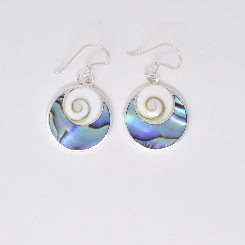 Round Abalone Earrings SE Top
