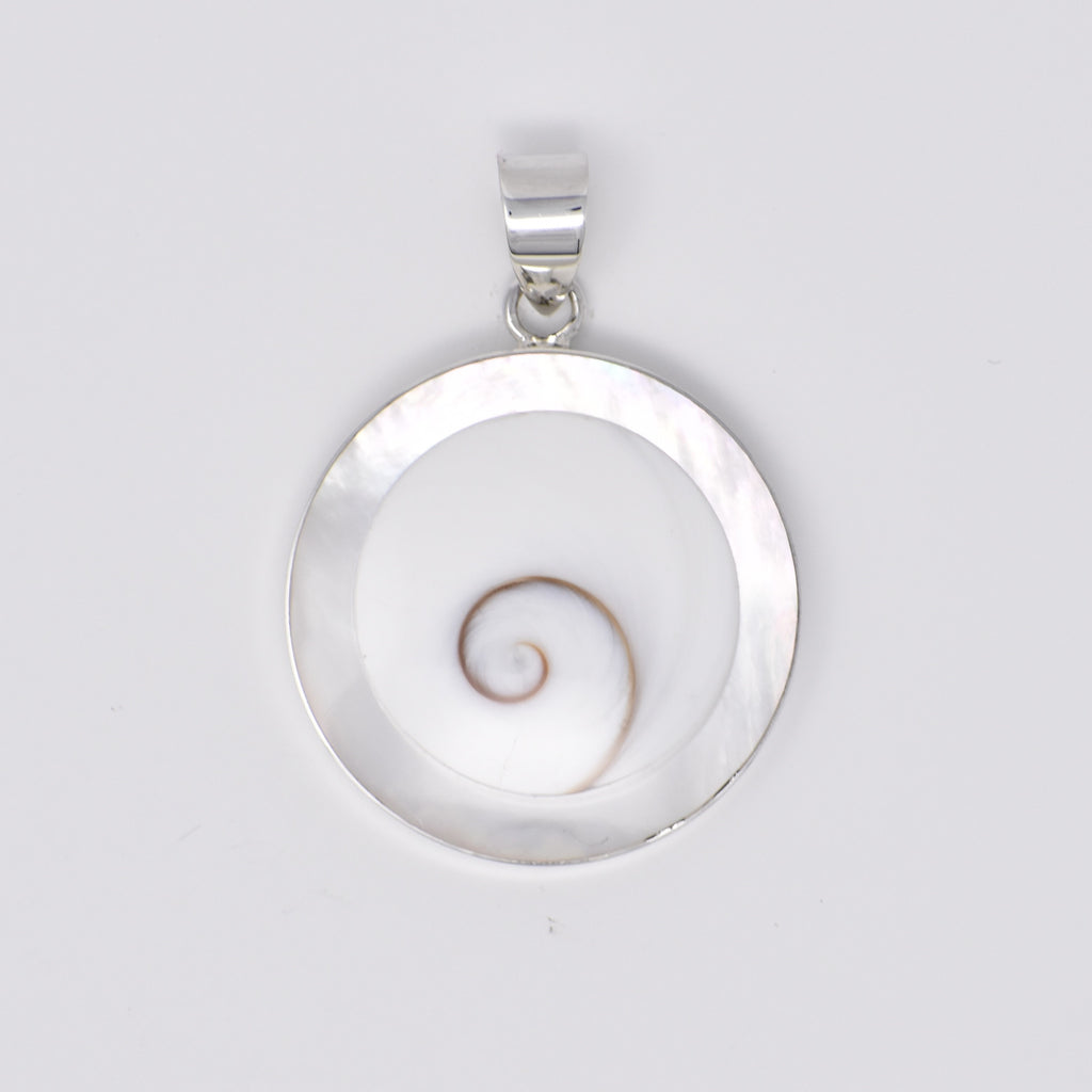 Round Shiva's Eye with Color Lining Pendant