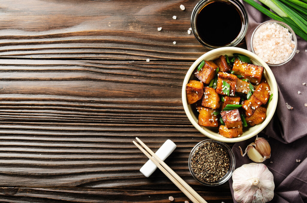 Sesame Tofu: Pan-Fried to Perfection in a Chili-Garlic Sauce