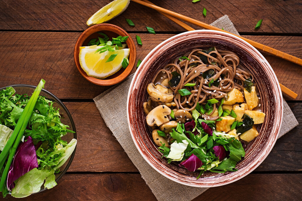 Soba Noodle Bowl: A Quick and Healthy Soba Noodle Recipe with Sriracha Tofu