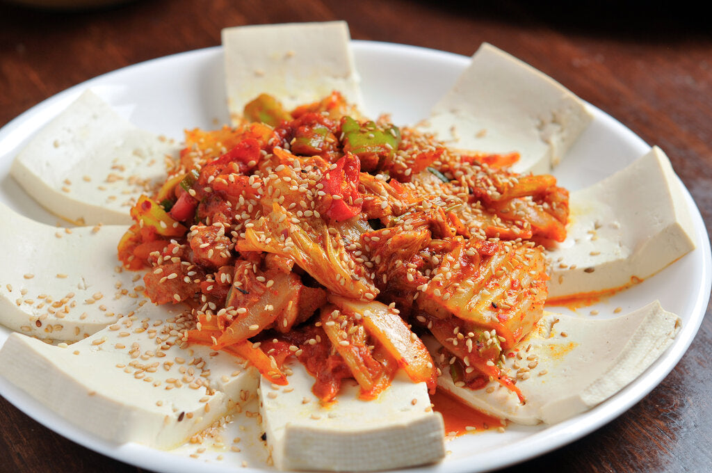 Kimchi and Tofu: Stir-Fried Korean-Style Recipe