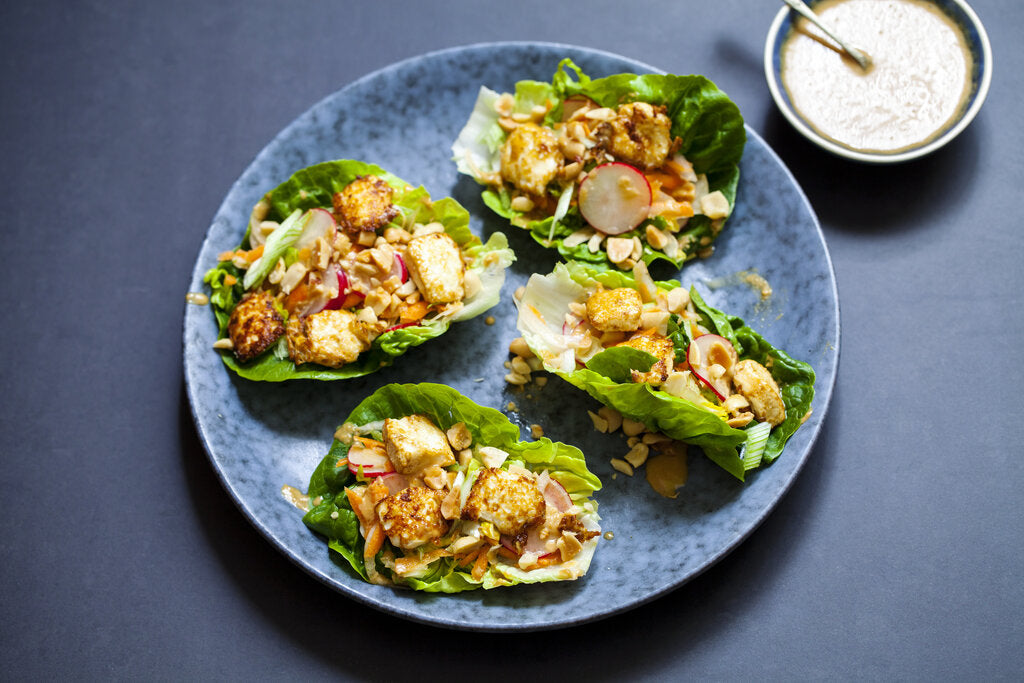 Tofu Lettuce Wraps: A Healthy, Low-Calorie Recipe