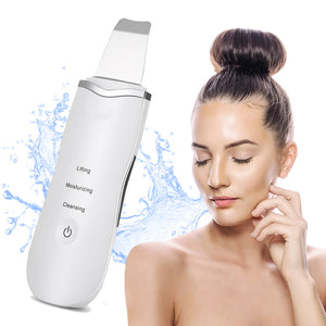 Ultrasonic Skin Scrubber Facial Spatula - Blackhead Extraction - Blackhead Removal Tool
