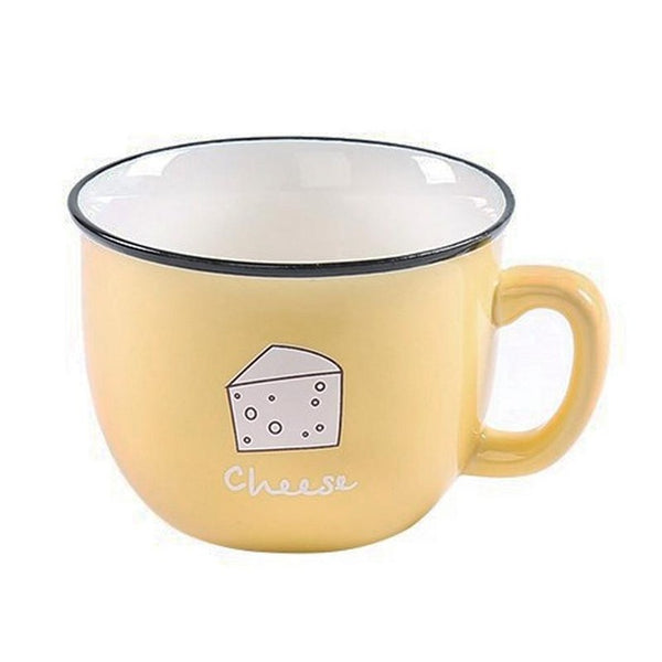 New Cartoon Ceramic Coffee Mug With Lid And Spoon