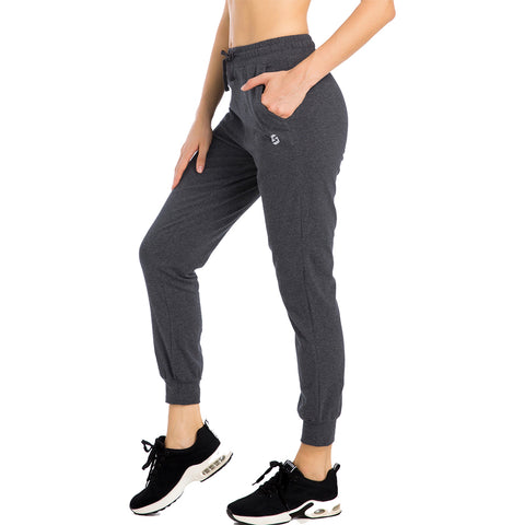 Women's Joggers Lounge Sweatpants Yoga Workout Tapered Cotton Athletic Track Pants with Pockets