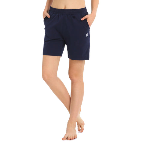 "Women's 5"" Activewear Lounge Bermuda Shorts Gym Jogger Yoga Shorts with Pockets"