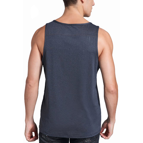 Spowind Men's Quick Dry Workout Tank Top - Athletic Running Training Muscle Fitness Gym Sleeveless Shirts
