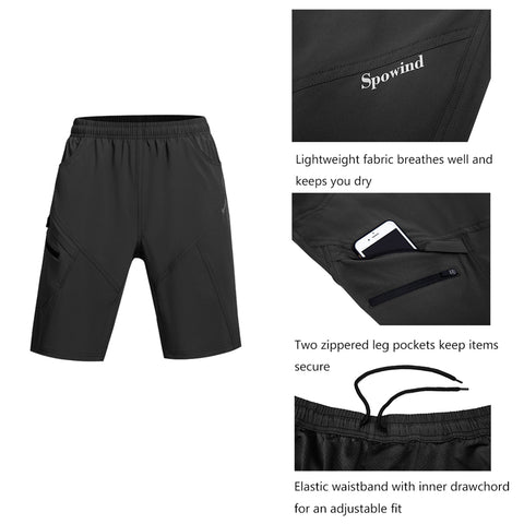 Image of Men's Mountain Bike Shorts 3D Padded Lightweight Loose-Fit MTB Bike Shorts