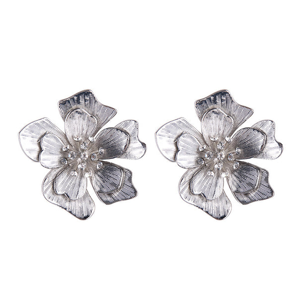 Metallic Rhinestone Flowers