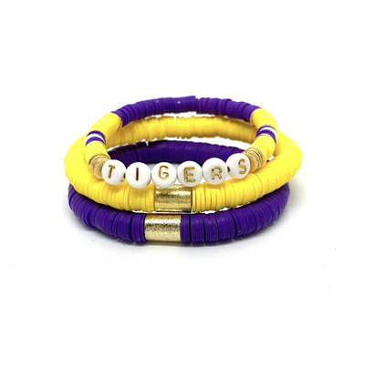 kids LSU Tigers bracelets