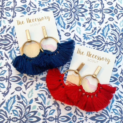 Red or Navy Tassels