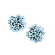 Sky Blue Flower Stud Earrings