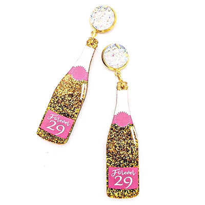 Scout Celebration Rose/Champagne Bottle Earrings