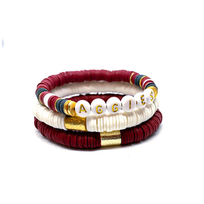 KIDS Texas A&M & Mississippi State Ibiza Bracelet Stacks