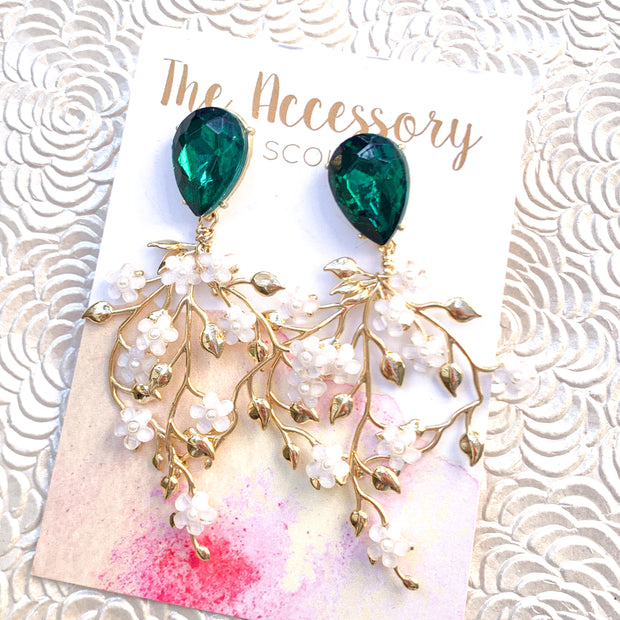 Isla Earrings - Jewel Top