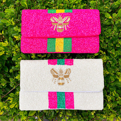 Beaded Bee Clutches