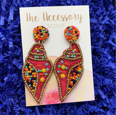 Pink Seaside Earrings