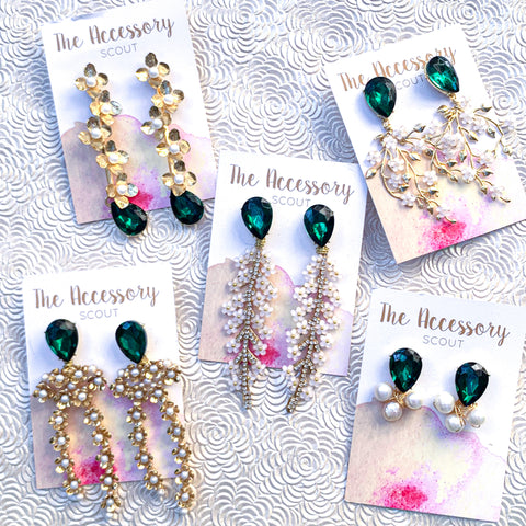 Marie Earrings - Jewel Top