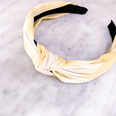 Girls' Yellow Tie Dye Headband