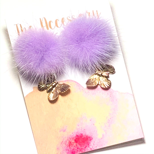 Butterflies with Mink Puff