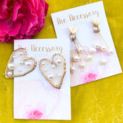 Invisible Heart Stud Earrings