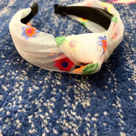 Santa Barbara Embroidered Boho Headband