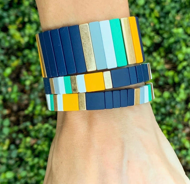 Thick Color Block Margaux Bracelet