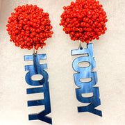 Scout Celebration Tailgate Team Name Earrings