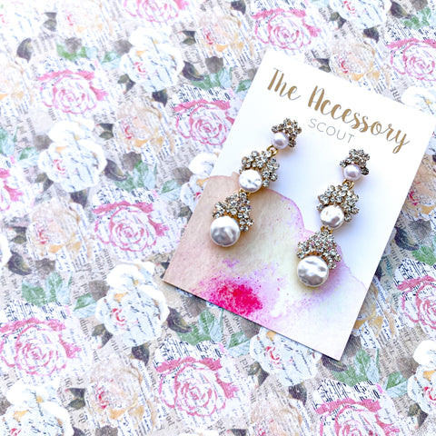 Margaret Pearl Drop Earrings