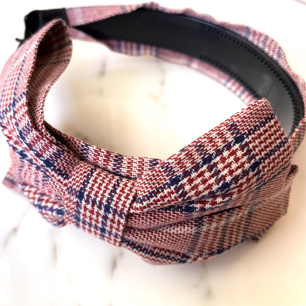 KIDS Mini Plaid Bow Headband