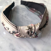 Chinoiserie Embroidered Knotted Headband